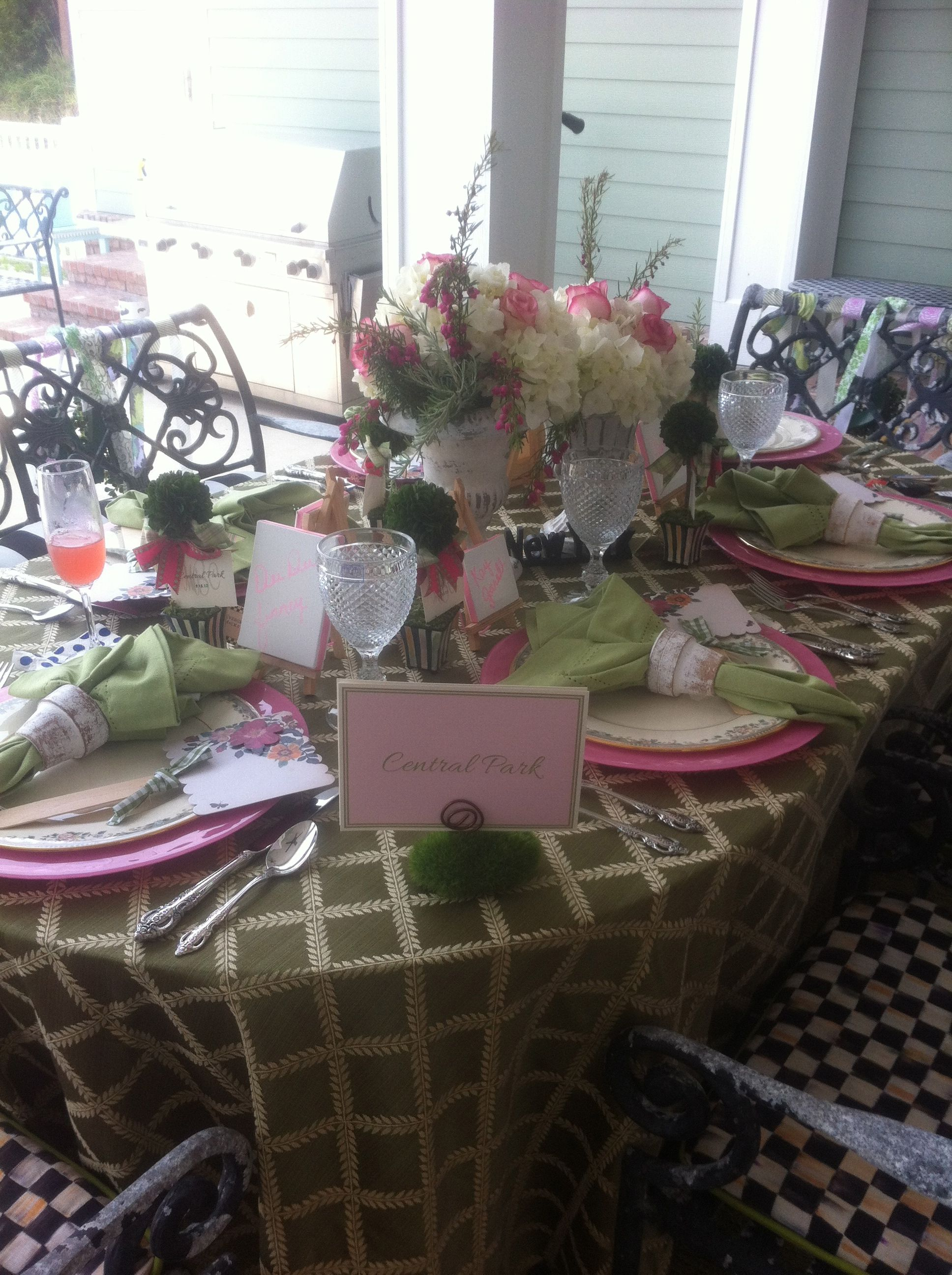 Nyc Themed Bridal Shower One Of The Tables Was Central Park
