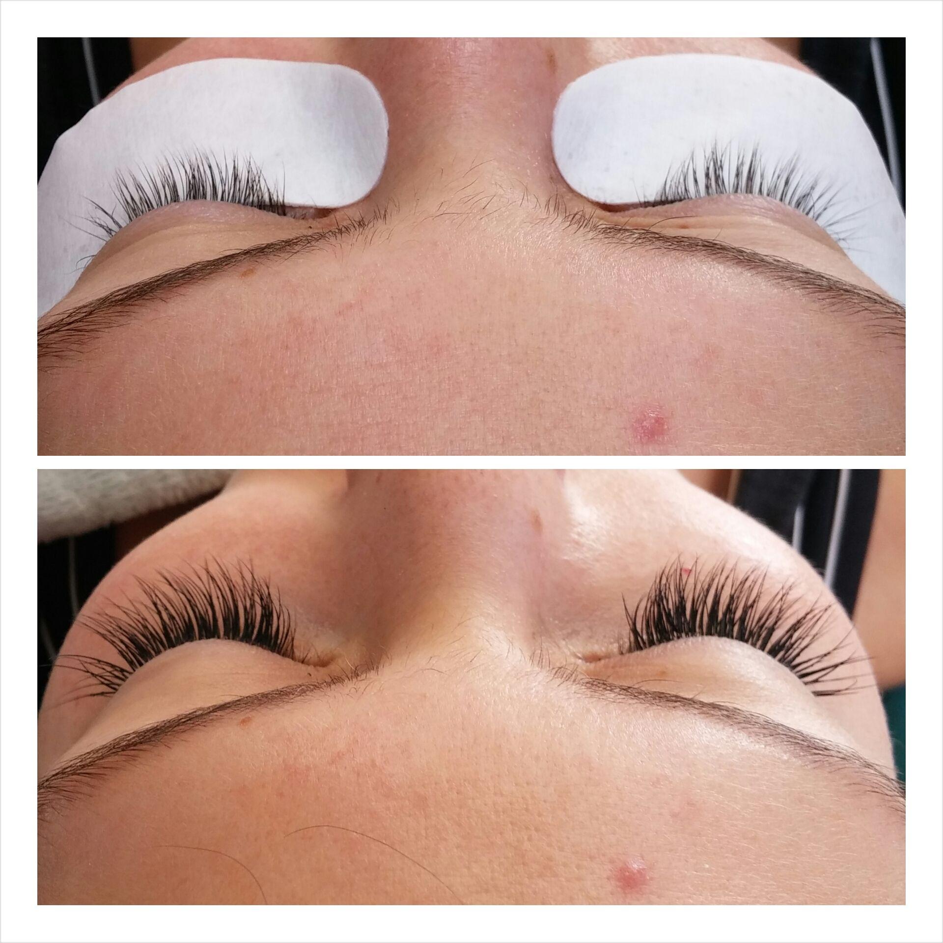 Before And After Fulll Set Of Novalash Eyelashextensions