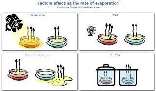 rate of evaporation factors