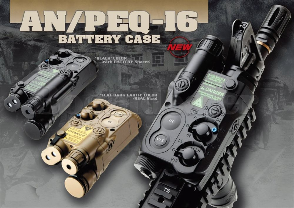 an peq 16 dummy box battery case lancer expandable for airsoft lipo