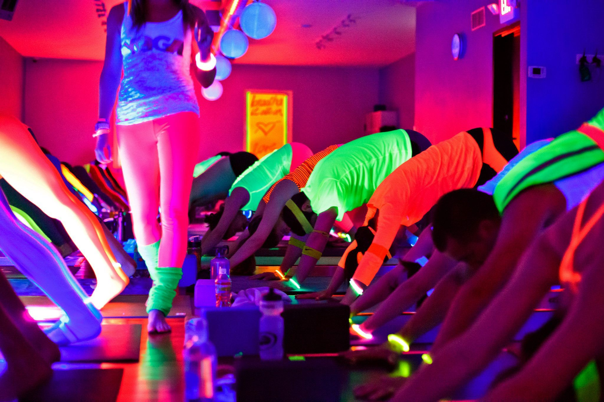 Inspiring Flow Glow Fun Workouts Fitness Event Yoga Party
