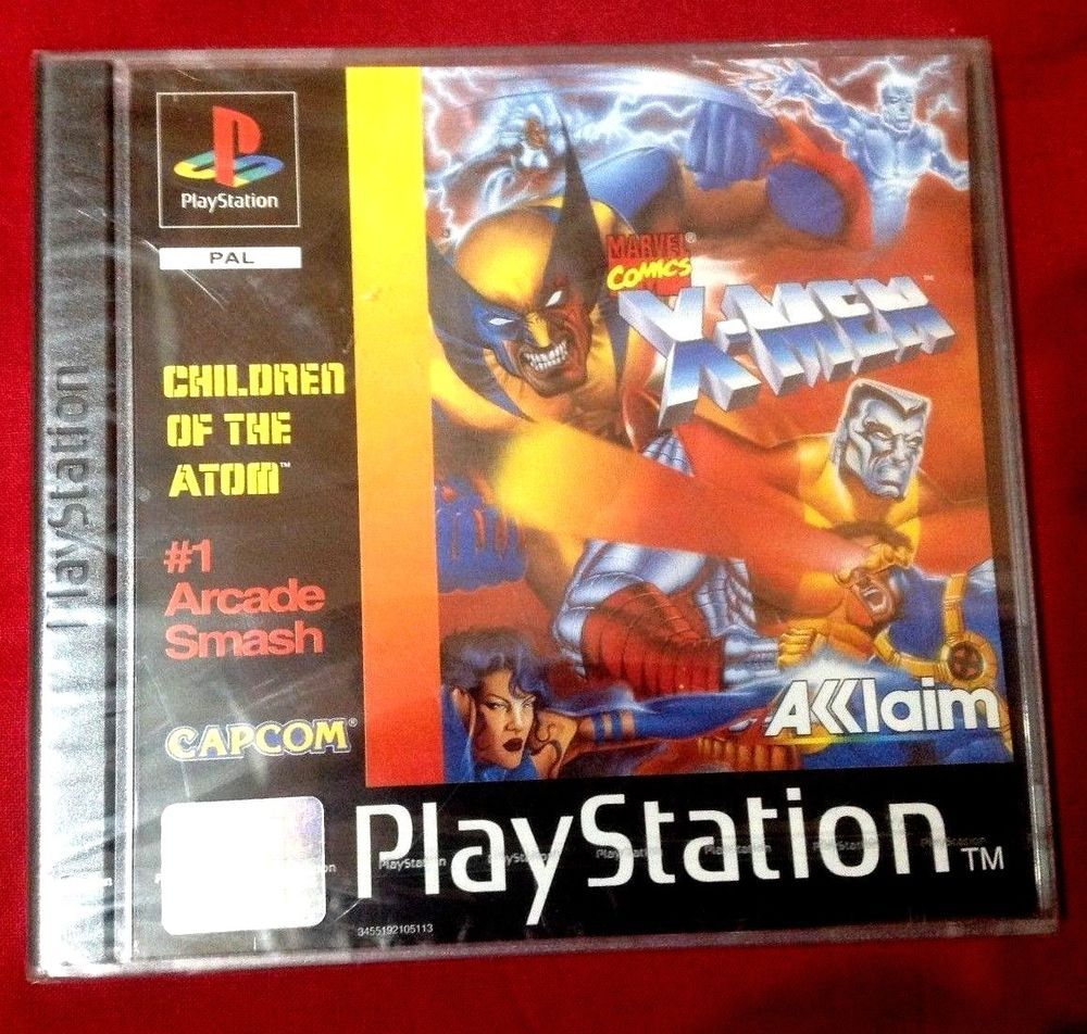 X Men Children Of The Atom Sony Playstation 1 Pal 1998 New Factory Sealed Pals Playstation X Men
