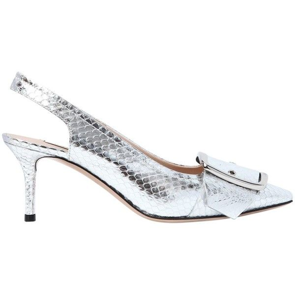 Casadei 60MM BUCKLE SNAKESKIN SLINGBACK PUMPS Buy Online 5krdZ8nv5