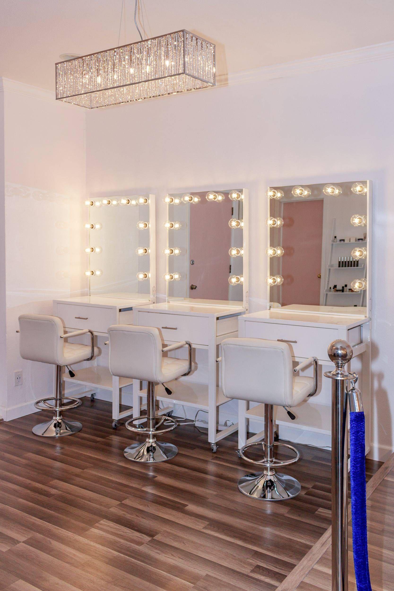 Inside The Glam Bar  Salon interior design, Makeup studio decor