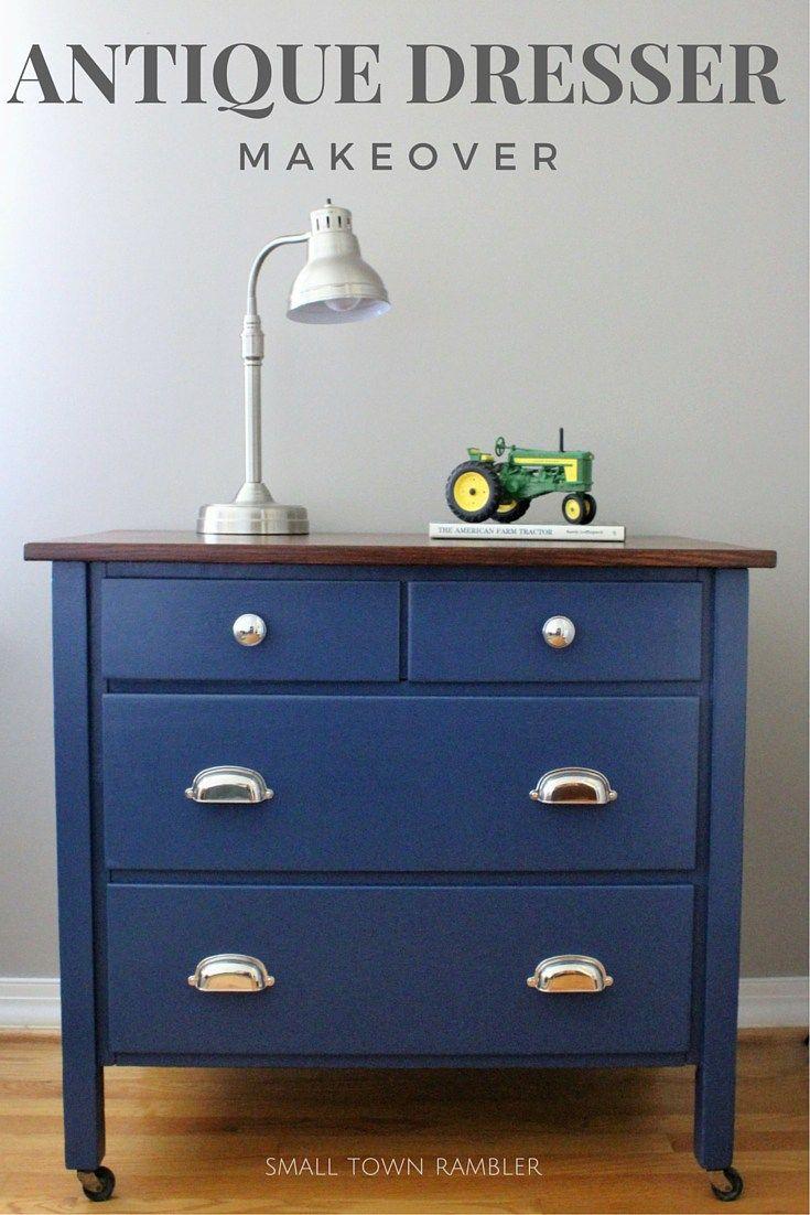 Hugedomains Com Blue Dresser Navy Blue Dresser Blue Painted Dresser [ 1102 x 735 Pixel ]