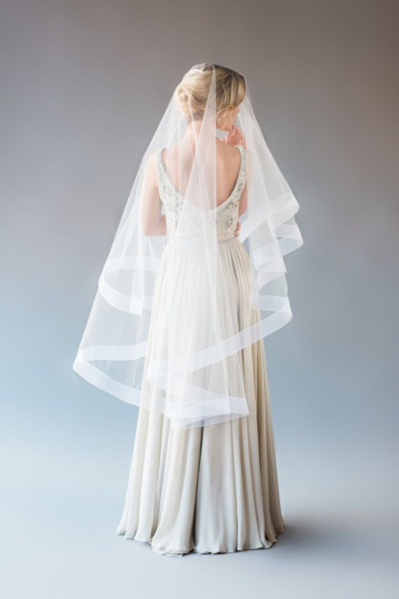 Chicbridal Womens Wedding Veil With Comb Lace Edge One Layer Veils For Bride