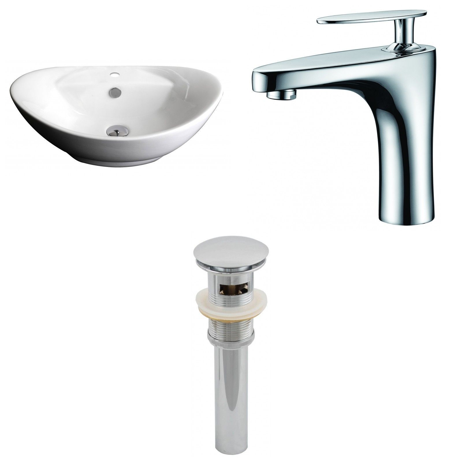Ceramic Oval Vessel Bathroom Sink With Faucet And Overflow Sink Faucet Wall Mounted Bathroom Sinks