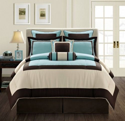 Tiffany Blue And Brown Bedroom blue and green teen bed sets | since blue is one of the most