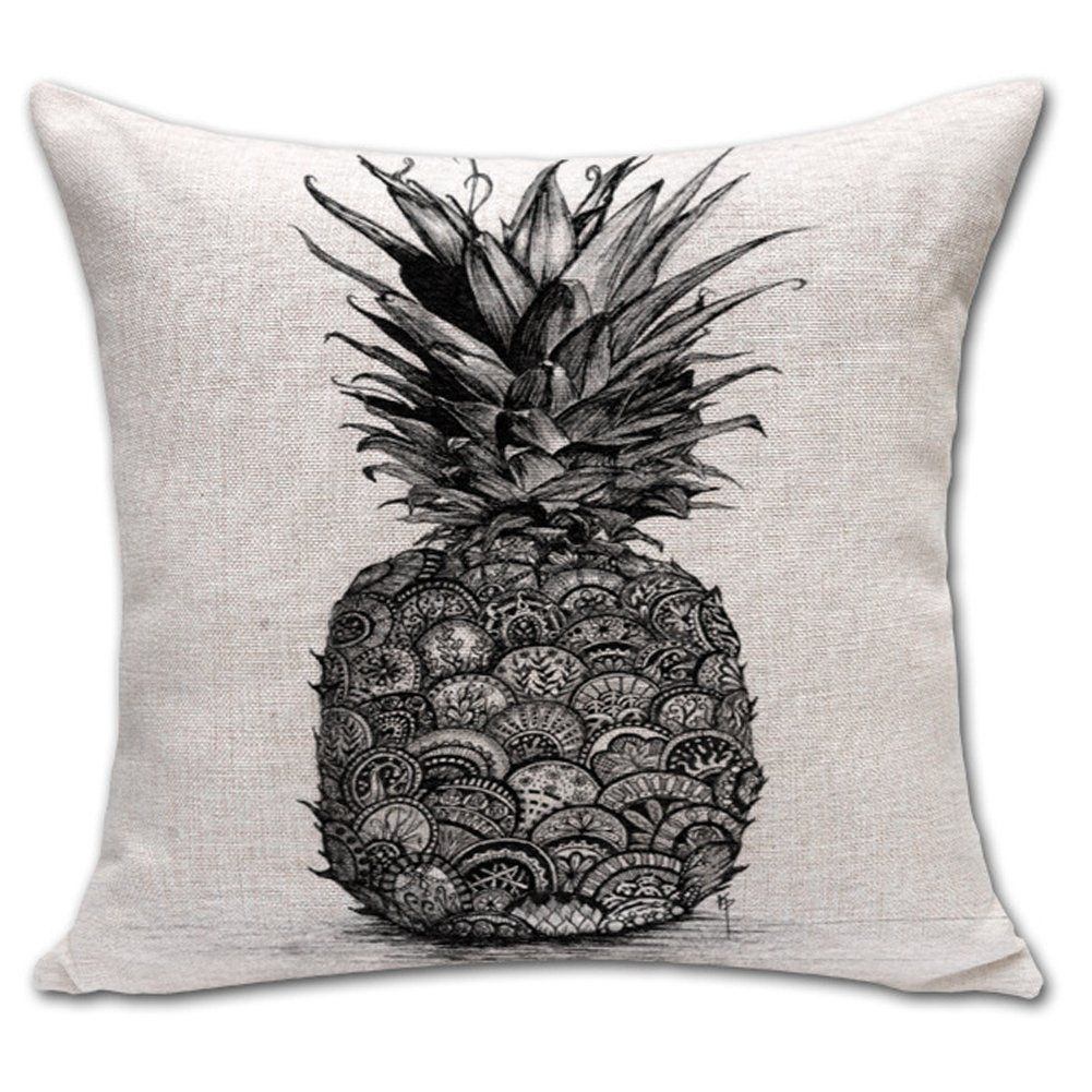 Überwurf Kaktus Leinen Baumwolle KissenbezugBedruckt Kissen Ananas XZN0wOnP8k