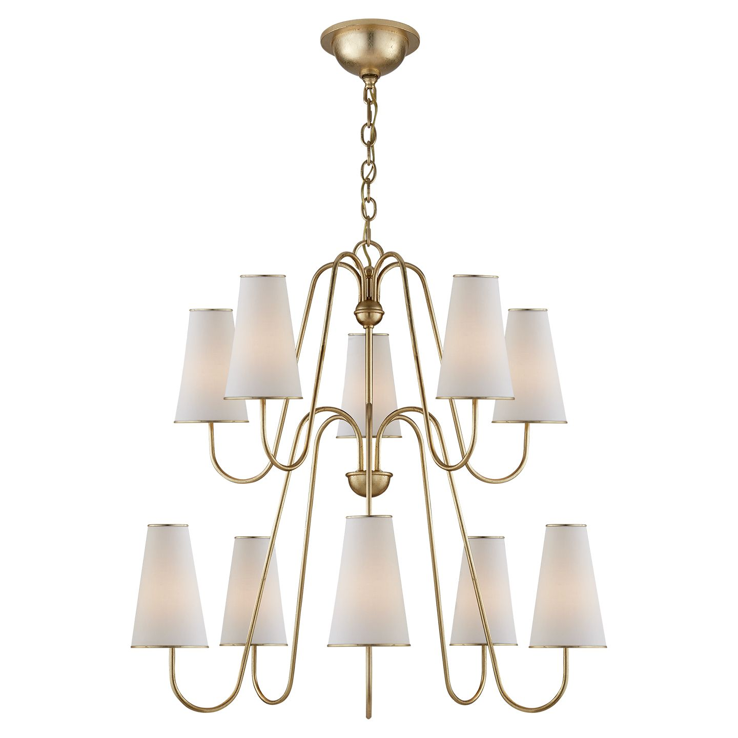 Visual comfort arn5052g l aerin montreuil chandelier in gild with visual comfort arn5052g l aerin montreuil chandelier in gild with linen shades arubaitofo Image collections
