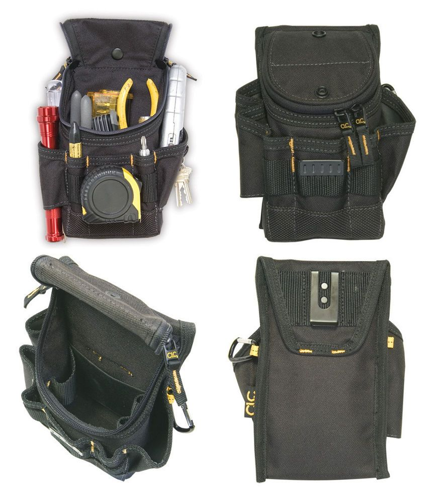 clc small ziptop utility maintenance electrician zippered tool belt pouch