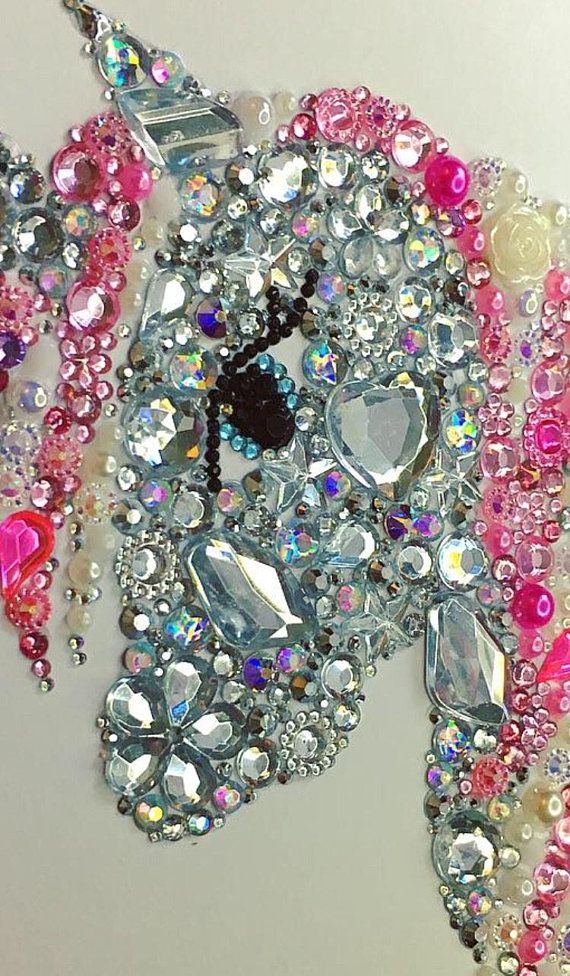 Decoración de unicornio, botón de unicornio Swarovski cristal ...