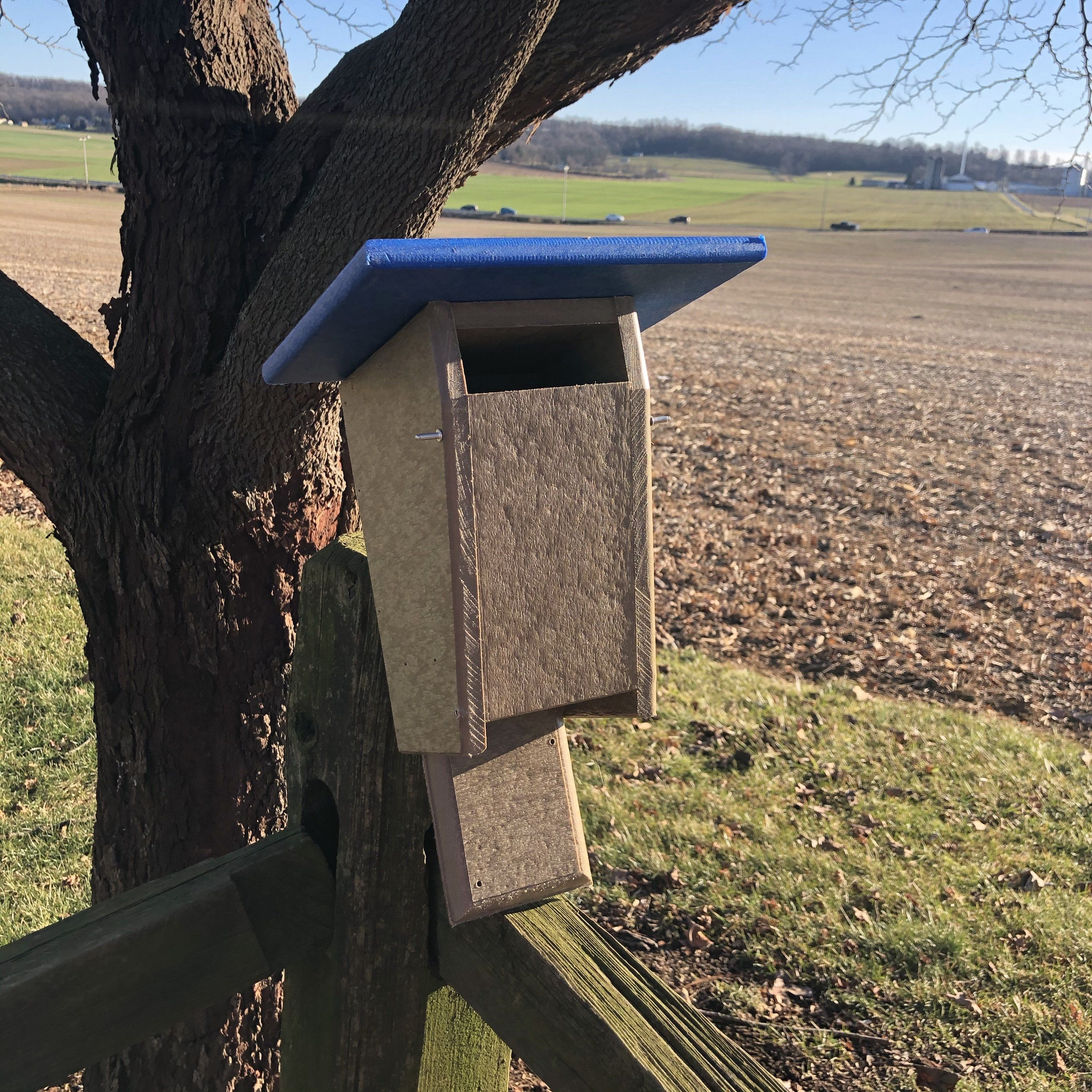 Sparrow Resistant Blue Bird Box Durable Poly Lumber Amish Made