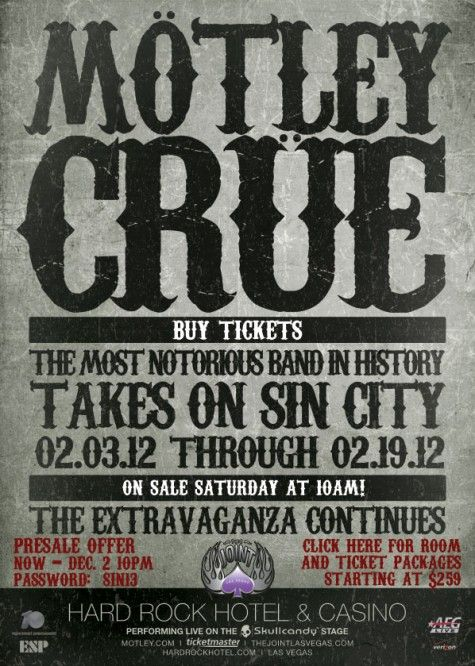The things I would do to go to this show...