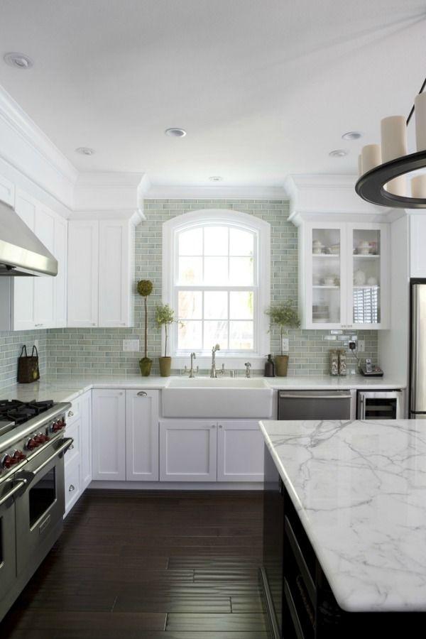 Kitchen Backsplash How High kitchen backsplash tile: how high to go | piani di lavoro cucina