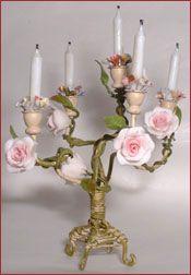 lovely miniature Shabby candelabra by Minst