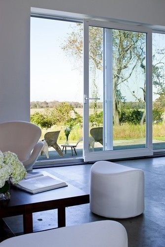 """Glass Door Designs For Living Room Extraordinary Huge Glass Doors """"passive House Retreat  Modern  Living Room Design Inspiration"""