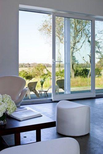 "Glass Door Designs For Living Room Magnificent Huge Glass Doors ""passive House Retreat  Modern  Living Room Inspiration Design"