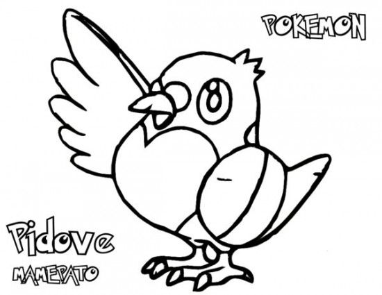 Pokemon Pidove Coloring Pages