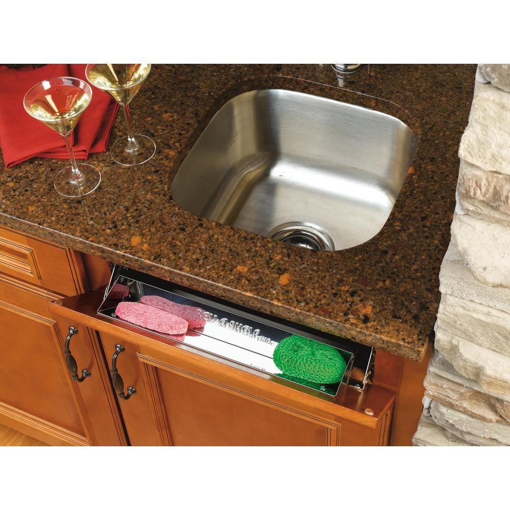 Rev A Shelf 3 In H X 10 In W X 1 688 In D Stainless Tip Out Sink Front Tray Silver Metallic In 2020 Stainless Sink Rev A Shelf Stainless Steel Sinks