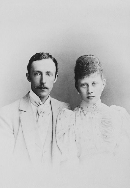 Prince Frederick Charles of Hesse and Princess Margaret of Prussia. July 1892.