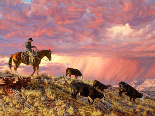 Pushing Them Off the Mesas Tim Cox | Western Favorites | Pinterest ...