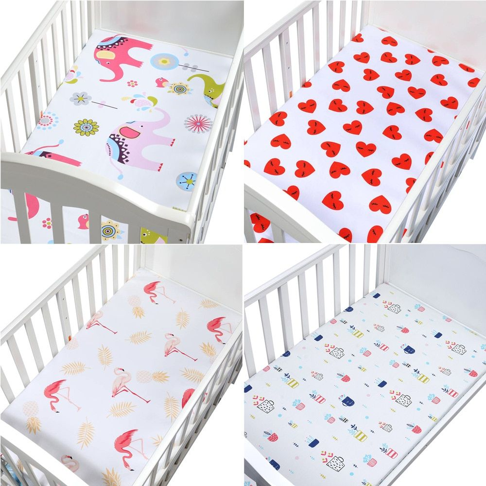 100 Cotton Lovely Pattern Newborn Bebe Bed Crib Sheet Mattress Cover Protector For Baby Woven Paddy Fitted Shee Mattress Covers Best Crib Mattress Crib Sheets