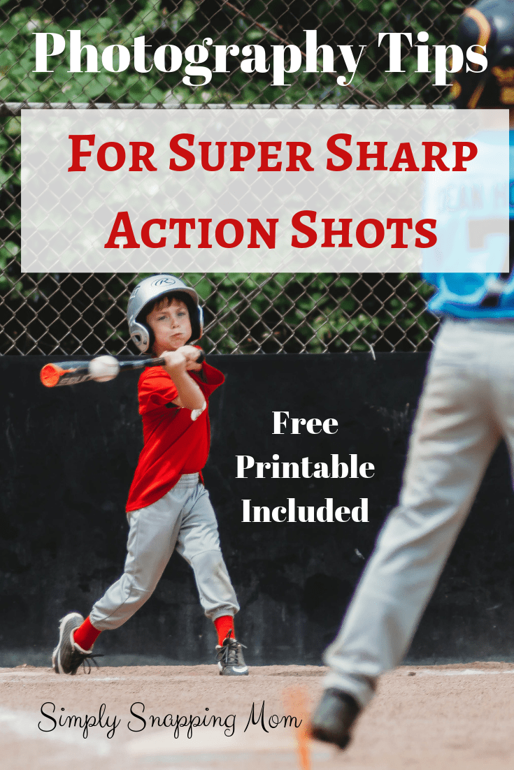 on Taking Sharp Action Shots Take super sharp action shots and never miss the big moment again! Follow these tips on camera settings for great sports photography!Take super sharp action shots and never miss the big moment again! Follow these tips on camera settings for great sports photography!