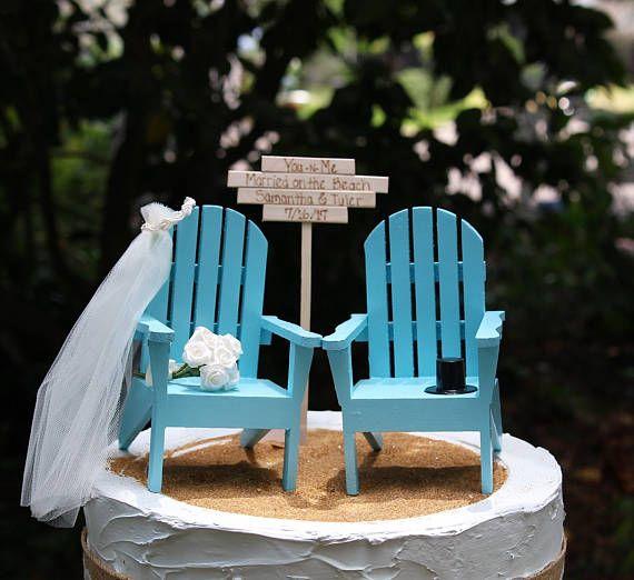 Beach Wedding Cake Topper Adirondack Chair Cake Topper Beach