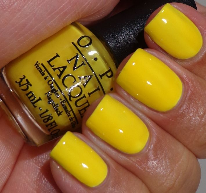 OPI- Don\'t Say It–Yellow It! I am not usually a yellow kind of ...