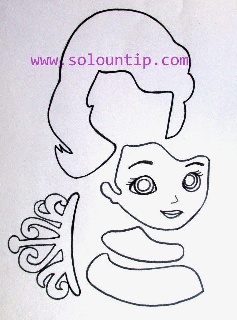 Cómo hacer princesa sofía en goma eva paso a paso ~ Solountip.com