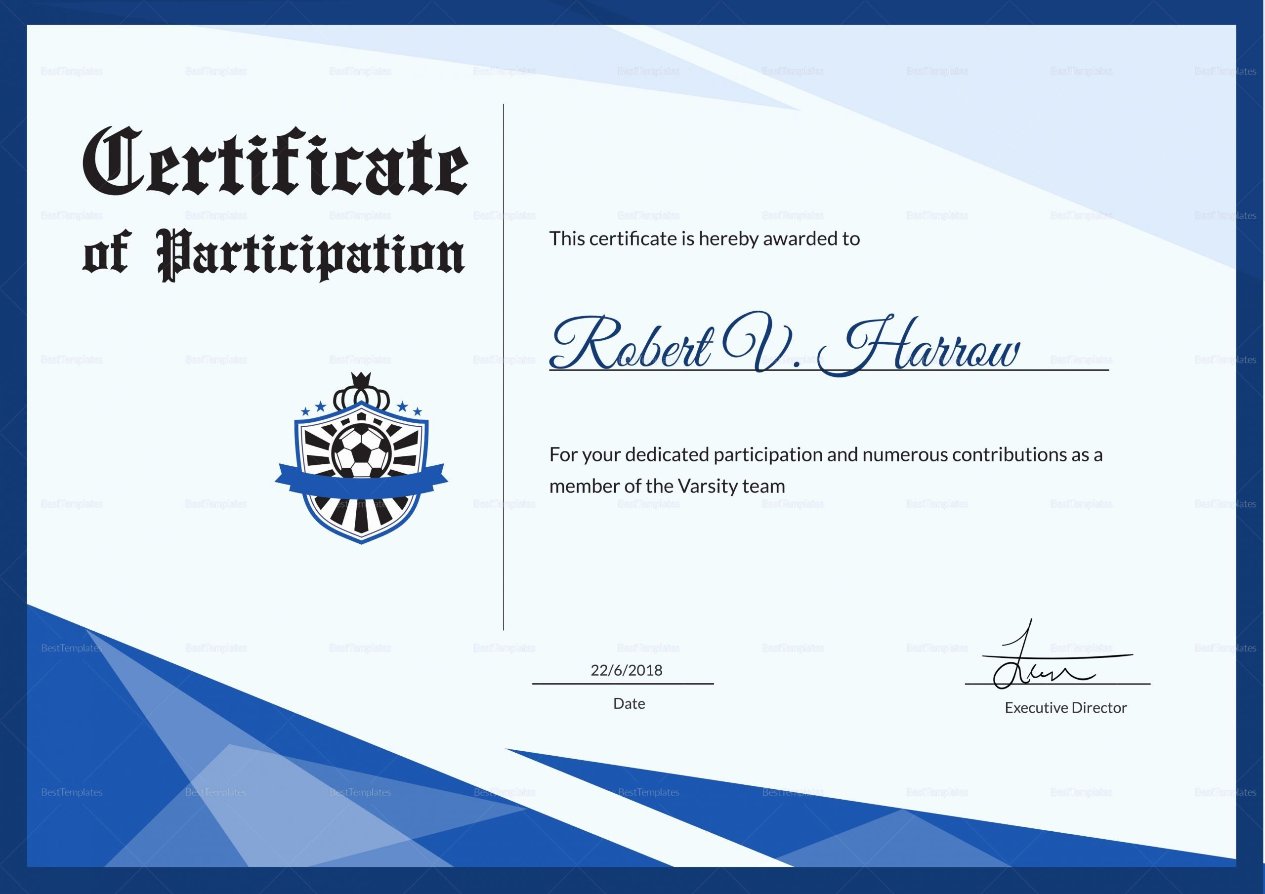 20 Free Football Certificates Templates In 2020 Awards