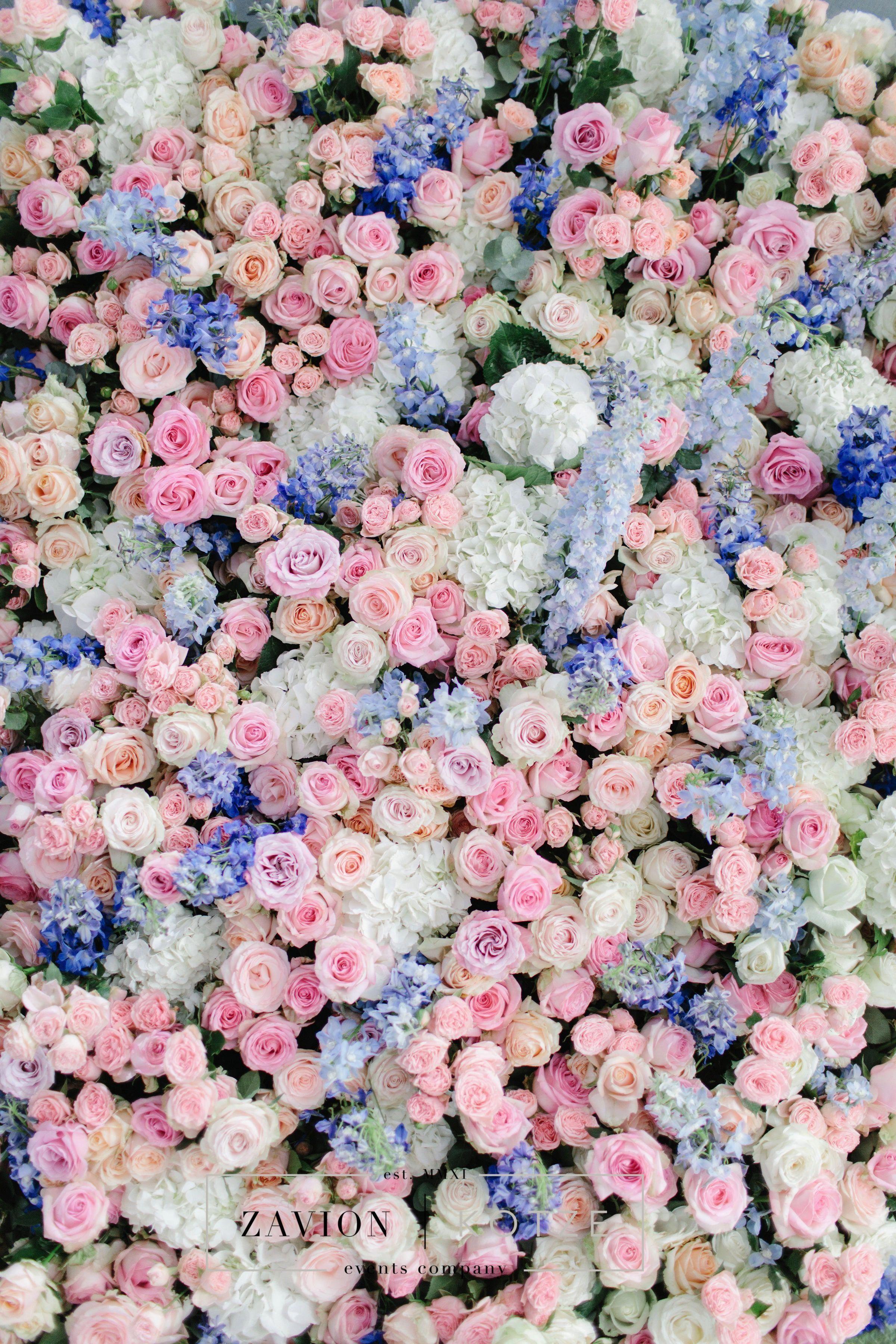 Pastel Flower Wall Flower Runner Table Runner Orchids