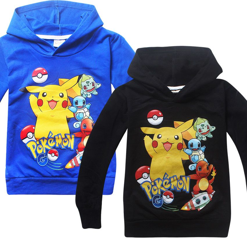 596b10743e4dd Click to Buy << Boys T shirt Autumn Pokemon Kids Sweatshirts Cartoon ...