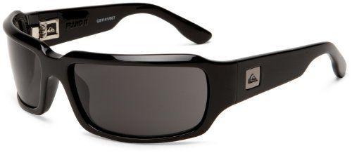 Quiksilver Mens Fluid II QEMN006 Wrap Sunglasses,Black Frame