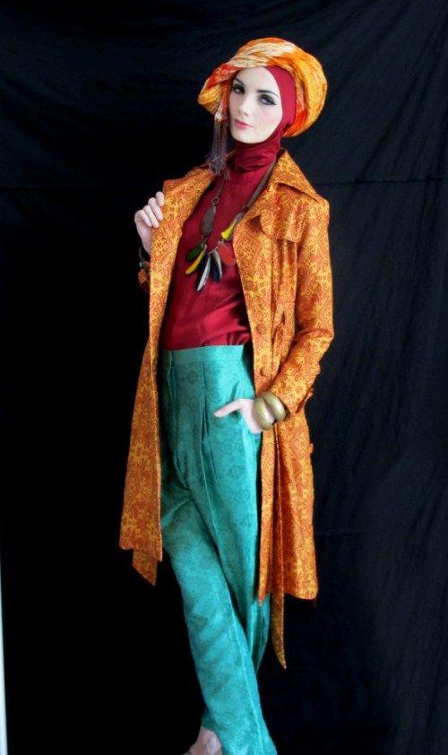 Model Baju Batik Dian Pelangi Nia Model Baju Batik Hijab