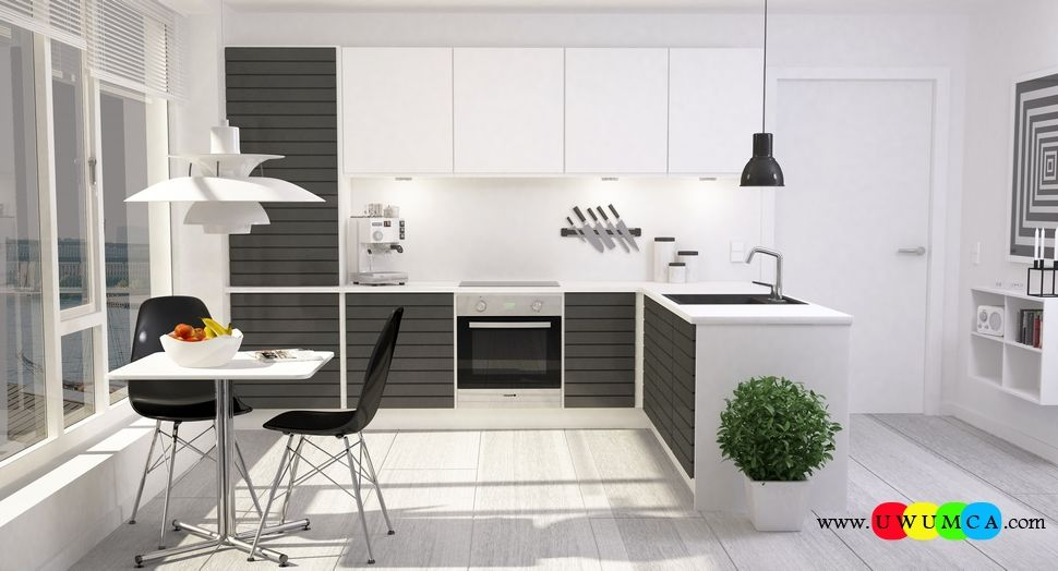 Modern Kitchen 3d Model kitchen:modern corona kitchen ad decor cabinets furniture table