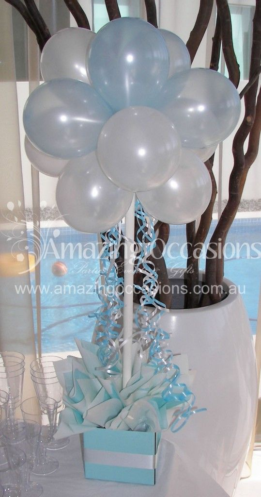 White And Yellow Balloon Topiary Cupcakes Cookies Candy