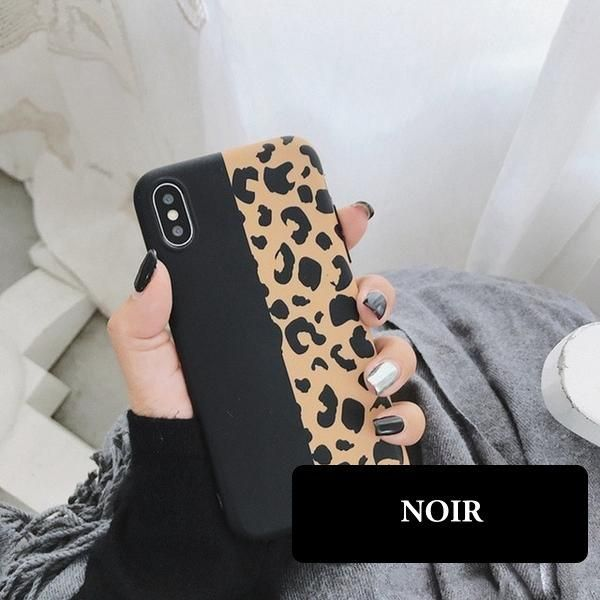 coque iphone 8 plus leopard silicone