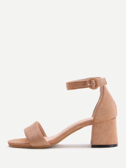 1d99298cbfa Brown · Brown Tow Part Block Heel Sandals
