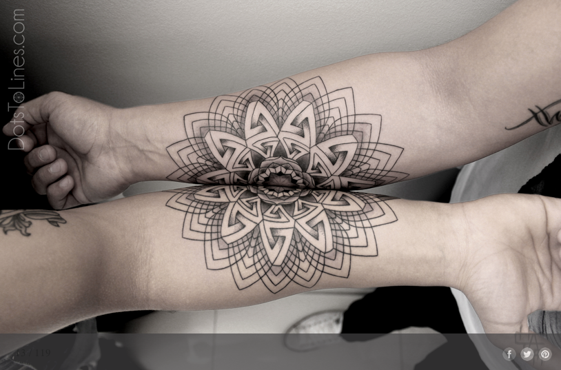 creative abstract flower lower arm partner tattoo by the. Black Bedroom Furniture Sets. Home Design Ideas