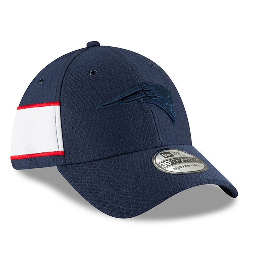 22803f2d858 Men s New England Patriots New Era Navy 2018 NFL Sideline Color Rush  Official 39THIRTY Flex Hat
