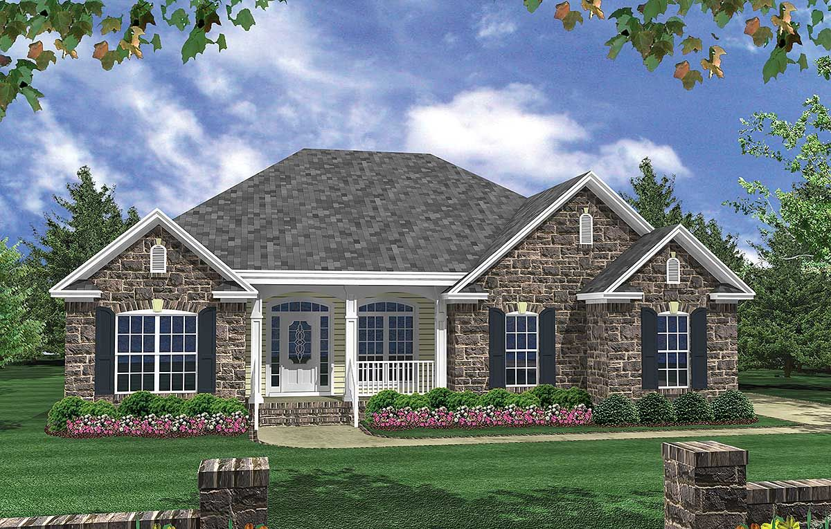 Plan 5180mm Casual Living Brick House Plans House Plans One Story House Plans