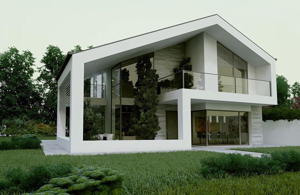 Villa prefabbricata in provincia di milano mi case for Architettura ville moderne