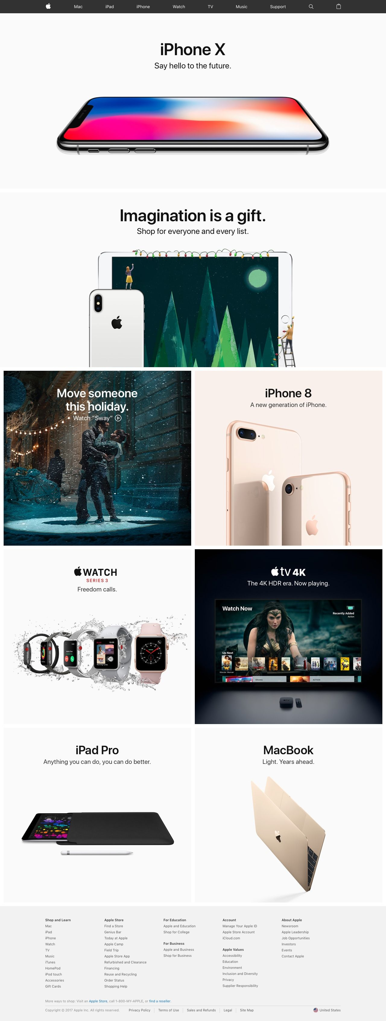 Apple Say Hello To The Future Best Landing Page Design Page Design Landing Page Design
