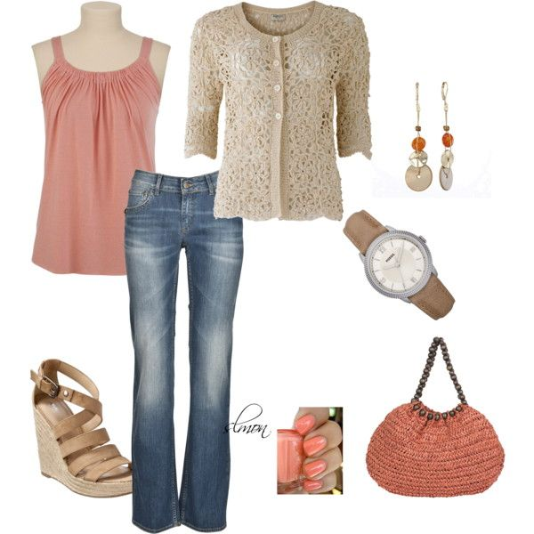 Peach, created by slmon on Polyvore