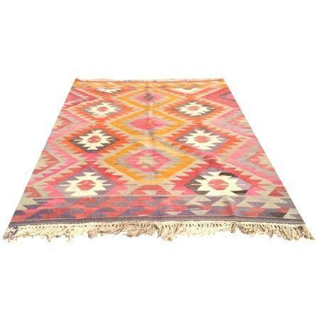 Rugs - Palladian Kilim Rug I Sara Kate Studios - pink and orange kilim rug,