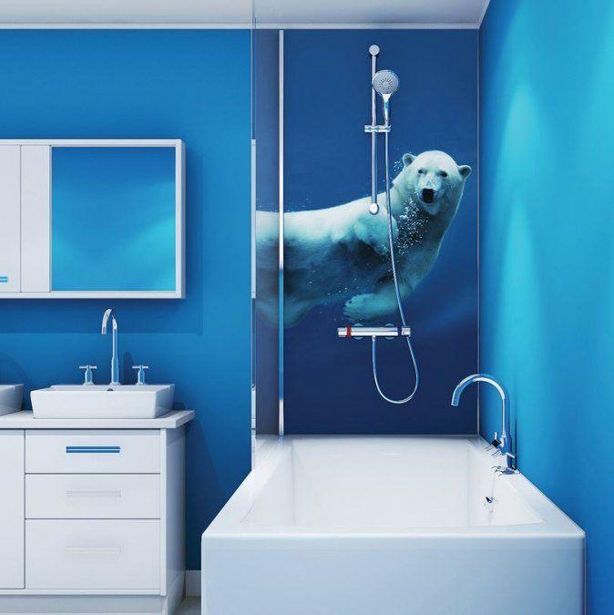 multipanel plus digital shower panel boards polar bear on shower wall panels id=58632