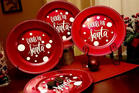 13 Inch Round Personalized Charger Plates These Decorative Are Great To Leave Cookies For