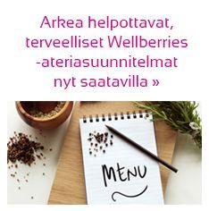 Arkea helpottavat, terveelliset Wellberries-ateriasuunnitelmat nyt saatavilla